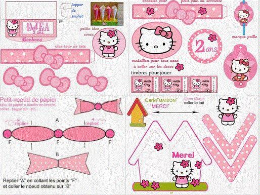 Kit muy completo para Fiestas de Hello Kitty, para imprimir Gratis. Free Printable. http://www.ohmyfiesta.com/2013/11/kit-de-hello-kitty-para-imprimir-gratis.html