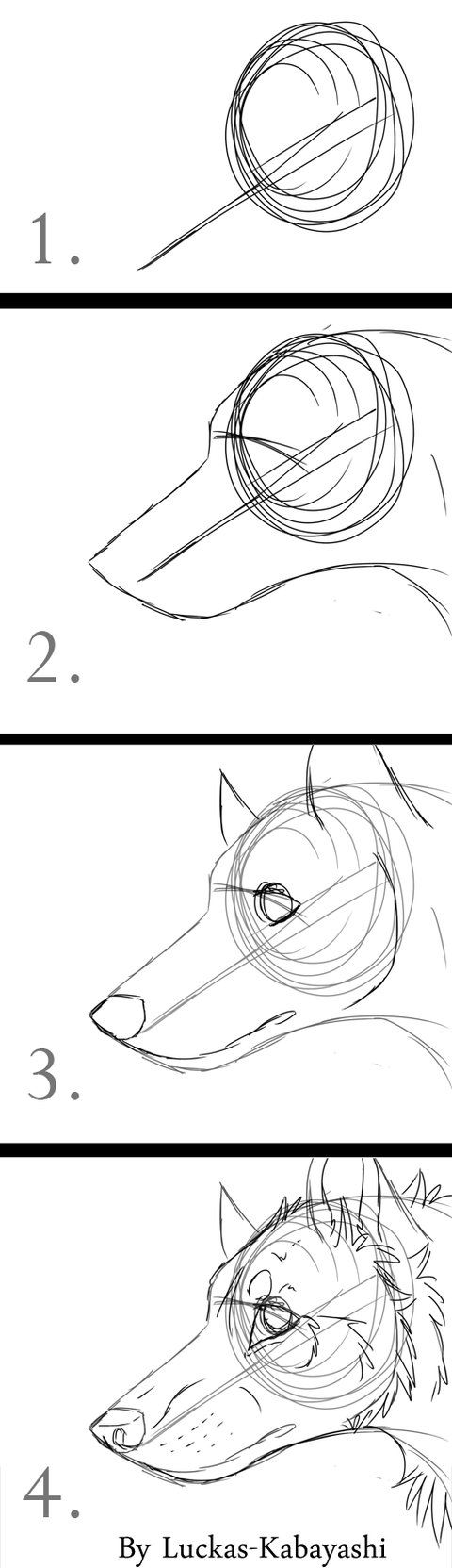 Dog Head (quick Drawings) By Luckask On Deviantart