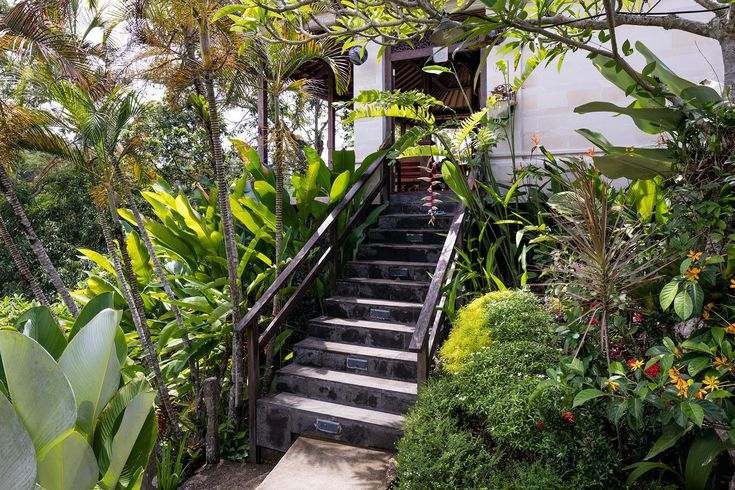 Steps leading to the Joglo Suite.