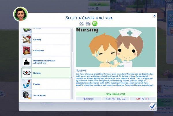 Mod The Sims: Nursing Career by KaiSimsCC • Sims…