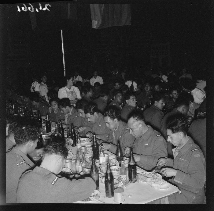 Hakari on the return of the Maori Battalion 23 Jan 1946 Wellington