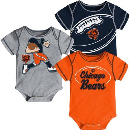 NFL, Team: Bears ,NB/INF 3 Pack Creepers, Team Color/Grey/Alternate Team Color, Assorted