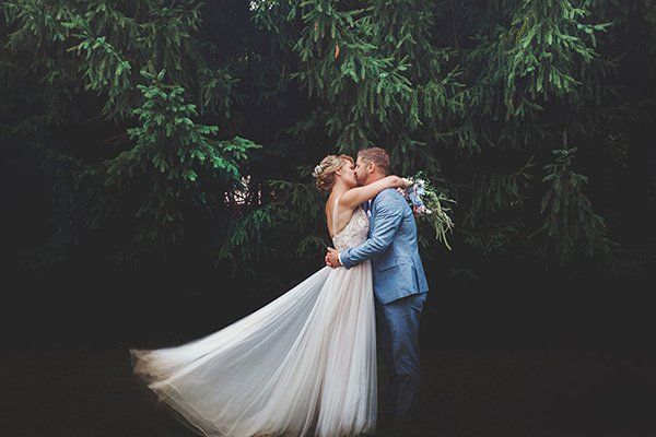Add variety to your wedding album by shooting in a couple of different locations.