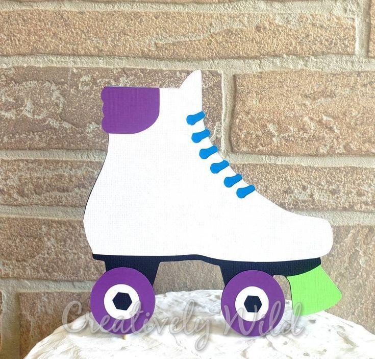 Roller Skate Cake Topper Roller Skate Birthday Party 80 S Birthday Party Decorations 80 S Cake Topper Roller Skate Party Decor In 2020 Roller Skate Birthday Roller Skate Birthday Party Skate Birthday
