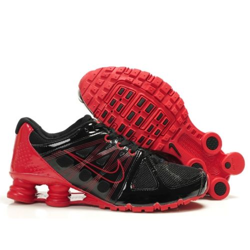 Nike Shox Agent Red Black Men Shoes Sale 7959