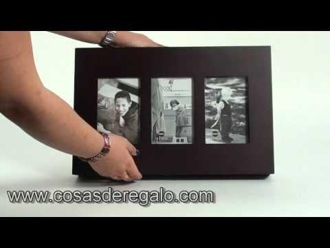 Demo Tapa contadores con marco de fotos para 3 fotos 10x15 e - YouTube