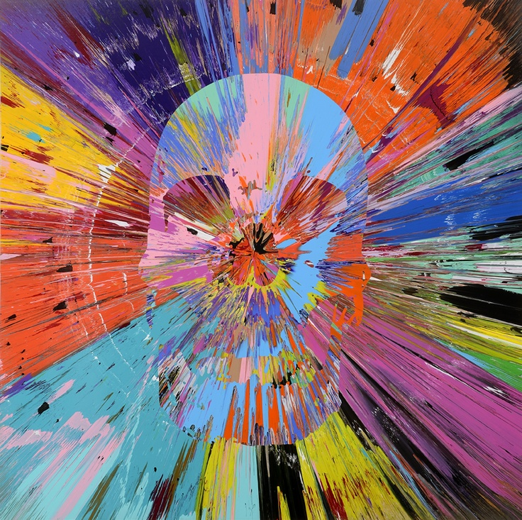 Damien Hirst Spin Painting I Want Your Skulls