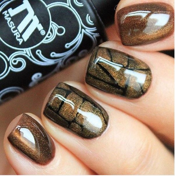 Best 25 brown nail designs ideas on pinterest designs for nails 30 crispy and fun brown nail designs prinsesfo Image collections