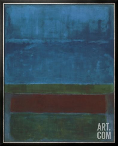 Blue, Green, and Brown Framed Art Print by Mark Rothko at Art.co.uk