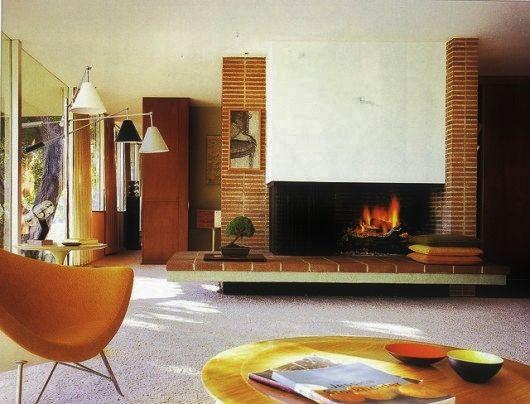 mid century modern interior mid century moment pinterest fireplaces mid century modern. Black Bedroom Furniture Sets. Home Design Ideas
