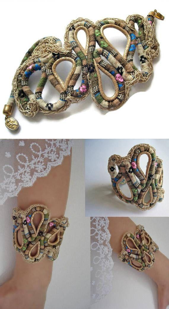 Gold Cord Bracelet Woven cord #bracelet #Bohemian style Gold