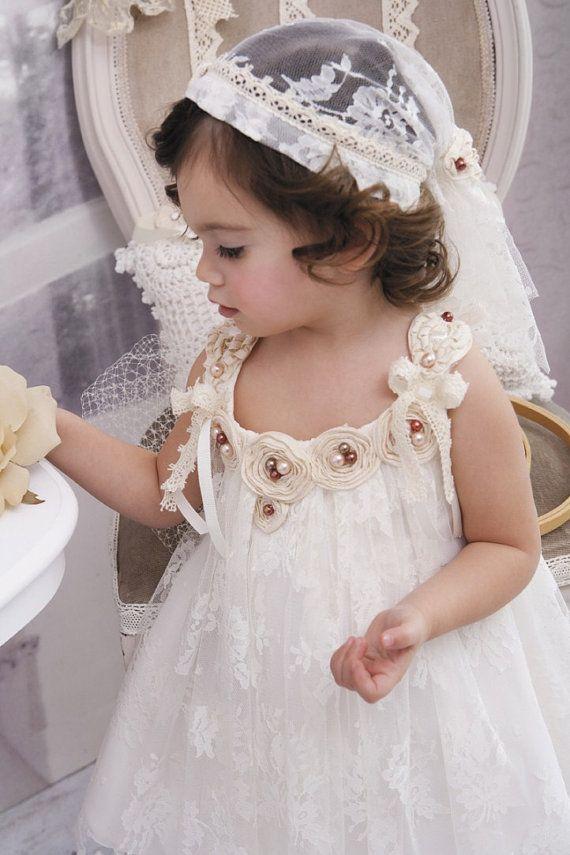 Christening  Gown  Christening  Dress Ivory by StyledByAlexandros