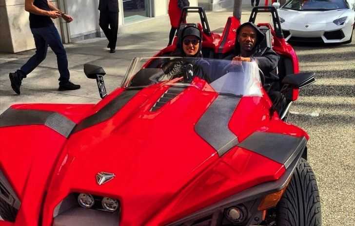 The Game Rides Polaris Slingshot Over the Weekend: Not Safe!  http://www.autoevolution.com/news/the-game-rides-polaris-slingshot-over-the-weekend-not-safe-91292.html