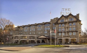 Groupon - One- or Two-Night Stay with Optional Grotto Access and Hotel Credit at The Elms Hotel & Spa in Greater Kansas City in Greater Kansas City. Groupon deal price: $99.0.00