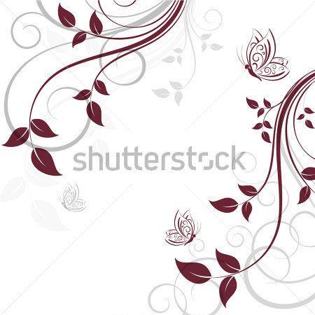 Astratto Sfondo Floreale Con clip art - ClipartLogo.com