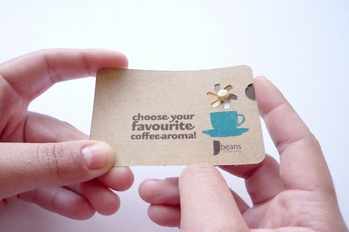 Interactive business card. Has a pinwheel...: Card Designs, Cards Ideas, Business Card Design, Interactive Business, Biz Cards, Businesscarddesign, Aromacolor Wheels, Cards Prototyp, Business Cards Design