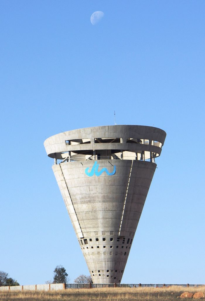 Midrand water tower, South Africa.Design Industrial, Water Towers, Midrand Water, Spirals Staircases, H2O Towers, Amazing Water, South Africa, Amazingness Architecture, Amazing Architecture