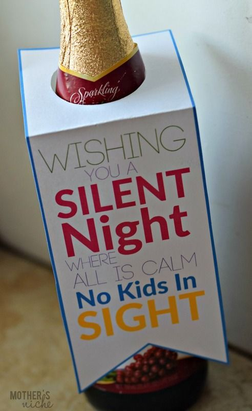 Silent Night Gift Tag + Pampering gift basket Idea for Busy Moms