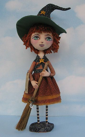 Witch - Cloth Doll Pattern by Susan Barmore