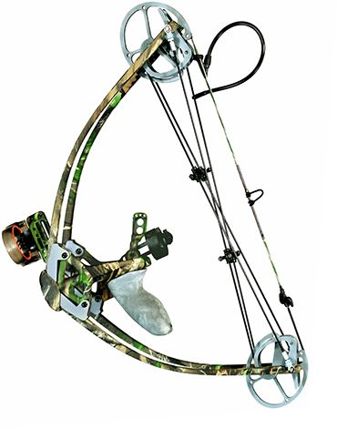 The Liberty I bow. The Ultimate Survival Bow. Easily pack it away into a large backpack. The lightest, shortest, smallest, compact, compound bow. You can even setup/attach a bow-fishing reel. www.libertyarchery.com