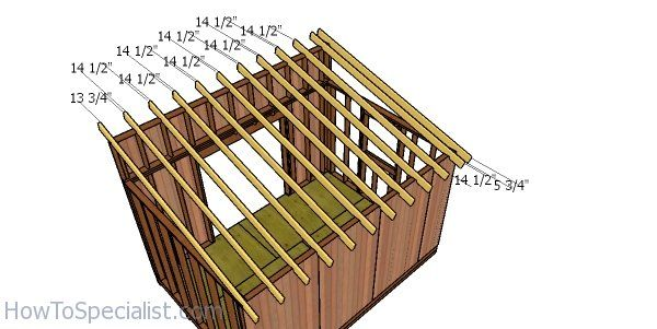 10x14 Lean To Shed Roof Plans Howtospecialist How To Build Step By Step Diy Plans Shed Roof Roof Plan Lean To