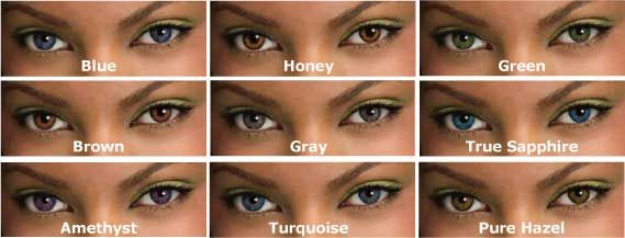 Real Eye Color Chart Choosing A Coloured Contact Lens