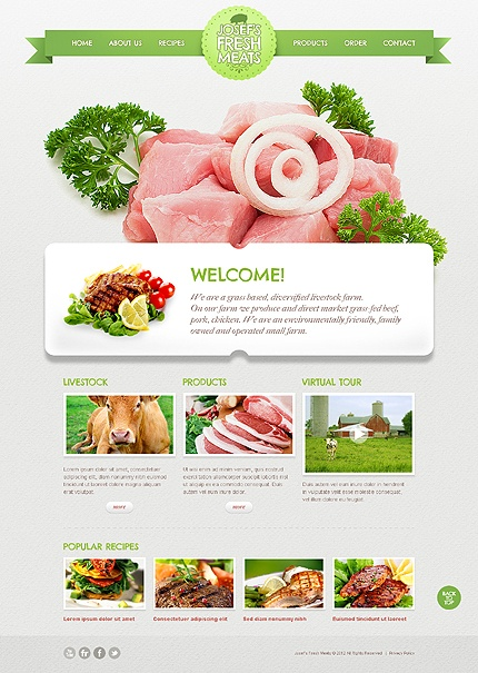 fresh and simple web design