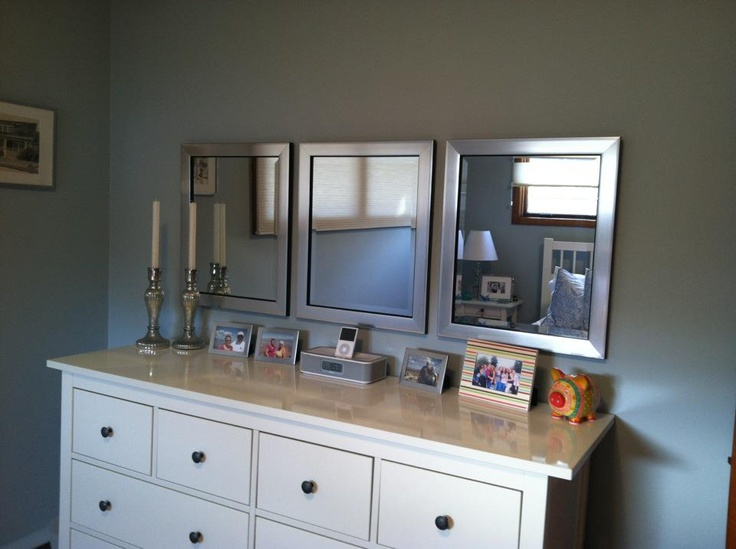 9 best above the dresser images on pinterest bedrooms for Small mirrors above bed