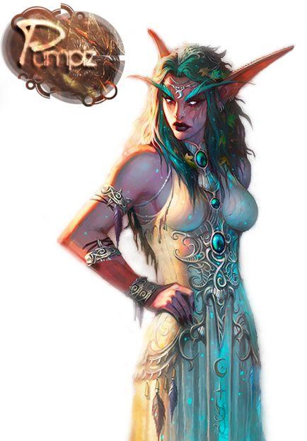 Render World of Warcraft - Renders Elfe de la nuit Pretresse Tyrande Murmevent wow
