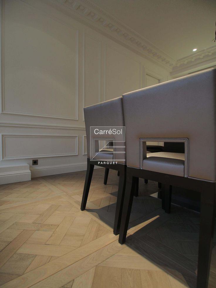 Appartement Paris XVI - Parquet Chêne Massif Dalle de Versailles