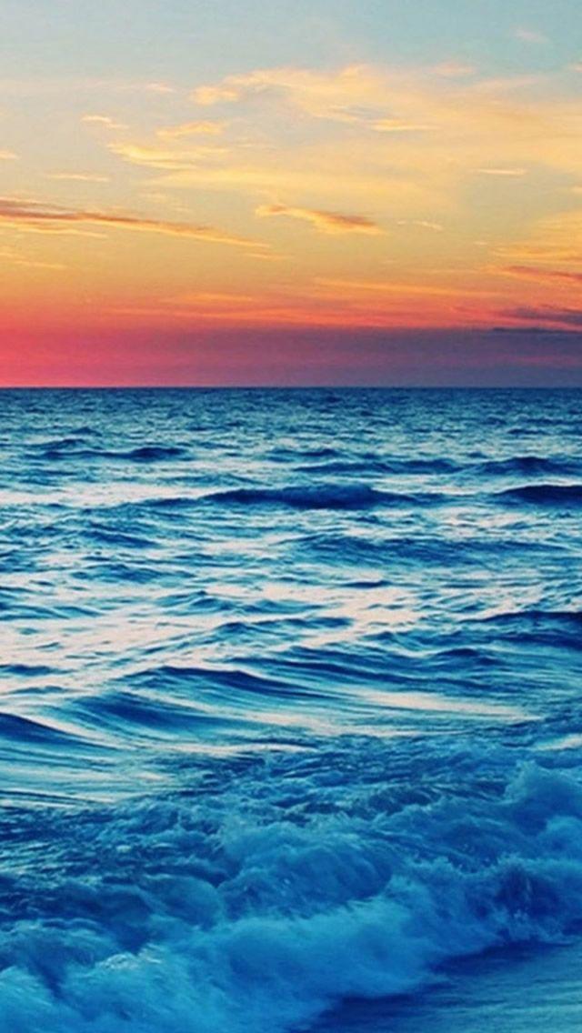 Nature Ocean Sea Skyline iPhone 5s wallpaper iPhone 5