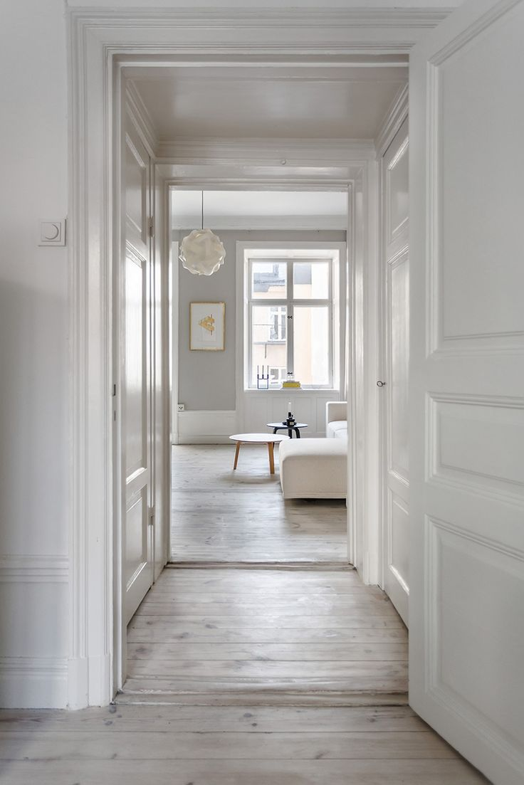 found by hedviggen ⚓️ on pinterest | if my house had many rooms | interior design | interior styling | walls | floor | living room | modern | minimal | hallway  | wood | white   Amazing Appartment in Stockholm