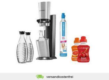 """Allyouneed: Sodastream Sparpack mit drei Flaschen und 2 x Sirup für 98 Euro https://www.discountfan.de/artikel/essen_und_trinken/allyouneed-sodastream-sparpack-mit-drei-flaschen-und-2-x-sirup-fuer-98-euro.php Billiger sprudeln: Bei Allyouneed gibt es jetzt als Wochenend-Angebot das """"Sodastream Sparpack"""" für 98 Euro: Mit dabei sind neben dem Wassersprudler auch drei Glaskaraffen und zwei Flaschen Sirup. Allyouneed: Sodastream Sparpack mit drei Flaschen und 2 x"""