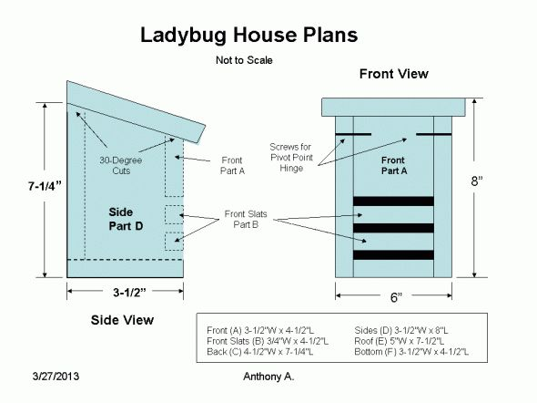 Ladybug house plans woodworking projects plans for House projects plans