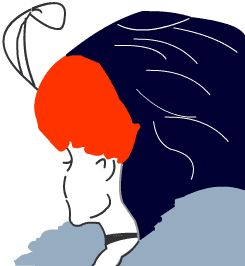 Optische Täuschung - Kippbild: Alte oder junge Frau?