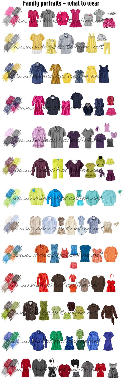 Family Photos ~~ Color Pallets