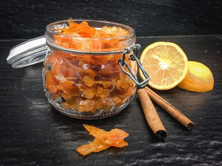 A další vánoční pomerančový recept. Kandovaná pomerančová kůra se skořicí