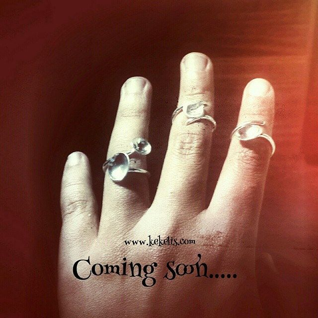 Coming soon....www.kekelis.com! You will customize them!! #tonoffilters #kekelis #joyería #jewelry #jewelrydesigner #bisuteria #plata #sterlingsilver #adjustable #ring #hechoamano #handmadering #handmade #metalsmithing #metal #custom #customize #regulable