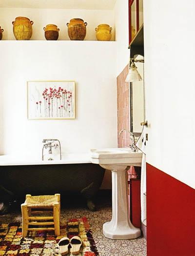 red black and white bathroom dream bathrooms pinterest: bathroom black red white