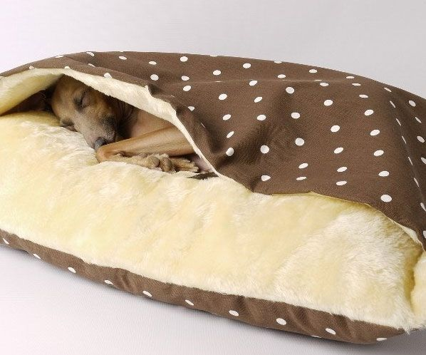 how to make a dog cave bed