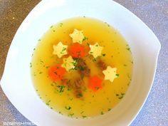 Rezepte mit Herz   ♥: Klare Suppe mit Eierstich-Sternen
