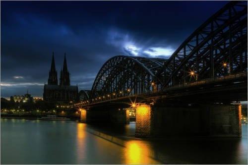 """Poster 90 x 60 cm - """"Köln"""" von Gregor Luschnat - auch in anderen Größen und als Leinwandbild erhältlich von POSTERLOUNGE, http://www.amazon.de/dp/B00AB3PJNE/ref=cm_sw_r_pi_dp_xEjmrb19GKYSB"""