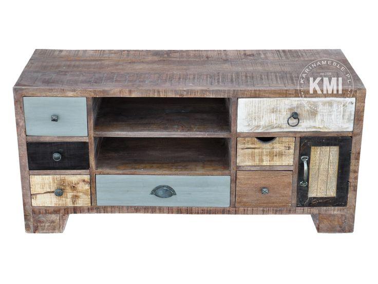 meble loftowe tanie | szafka rtv w stylu loft Enjoy recykling M1051B
