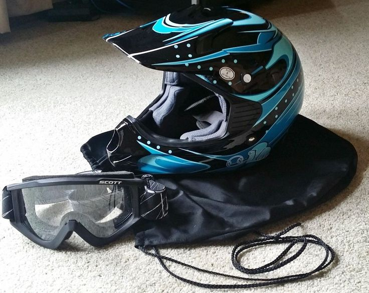 MSR Starlet Womens Small Dirt Bike OffRoad ATV Motocross Helmet DOT With Goggles #MSR $29.99