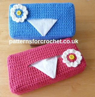 Free PDF crochet pattern for tissue box cover http://patternsforcrochet.co.uk/tissue-box-cover-usa.html #patternsforcrochet
