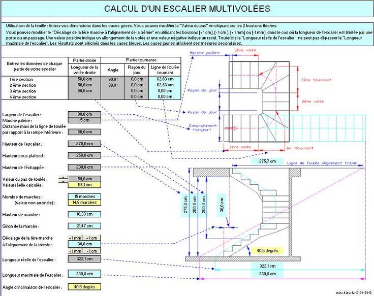Préférence Les 25 meilleures idées de la catégorie Calcul escalier sur  EW91