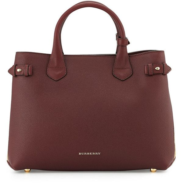 Burberry Horseshoe Leather House Check Shoulder Bag (5.600 BRL) ❤ liked on Polyvore featuring bags, handbags, shoulder bags, bolsas, burberry, purses, mahogany red, red shoulder bag, leather purses and burberry purses