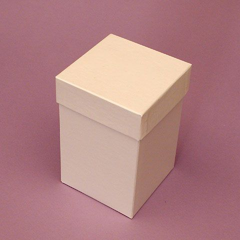 White Premium Two Piece Heavy Gift Boxes With Cap Lid