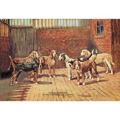 Buyenlarge Welsh Hounds by T. Ivester Llyod Painting Print