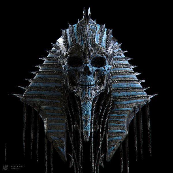 Маска смерти Арт, 3D Sculptor